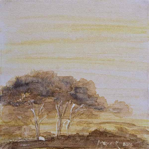 """""""Bushveld Peace Filled Immensity 03"""" by Melanie Meyer from her Emergence Art Gallery"""