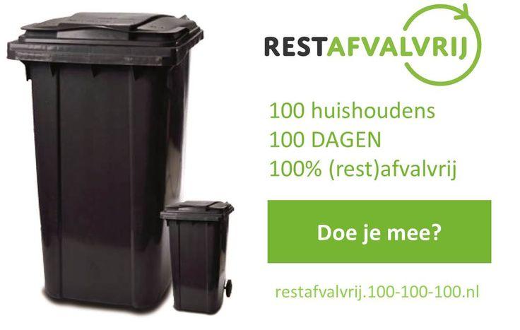 Op 7 februari was de aftrap van de 100-100-100 campagne voor o.a. de Etten-Leurse deelnemers. Ruim 40 Etten-Leurenaren gaan de uitdaging aan om 100 dagen 100% restafvalvrij te leven. Lees alle info op http://restafvalvrij.100-100-100.nl