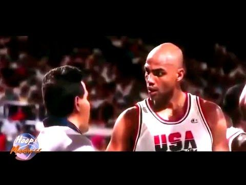 Charles Barkley dirty play on 1992 Olympics first game Dream Team vs Angola