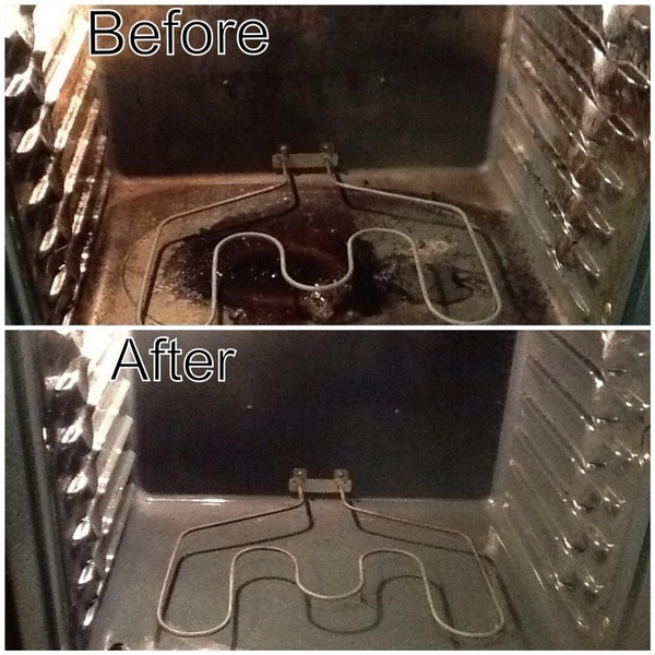 Use baking soda to clean your oven! Its so easy, it works! No scrubbing needed! -- I'll try this one day.