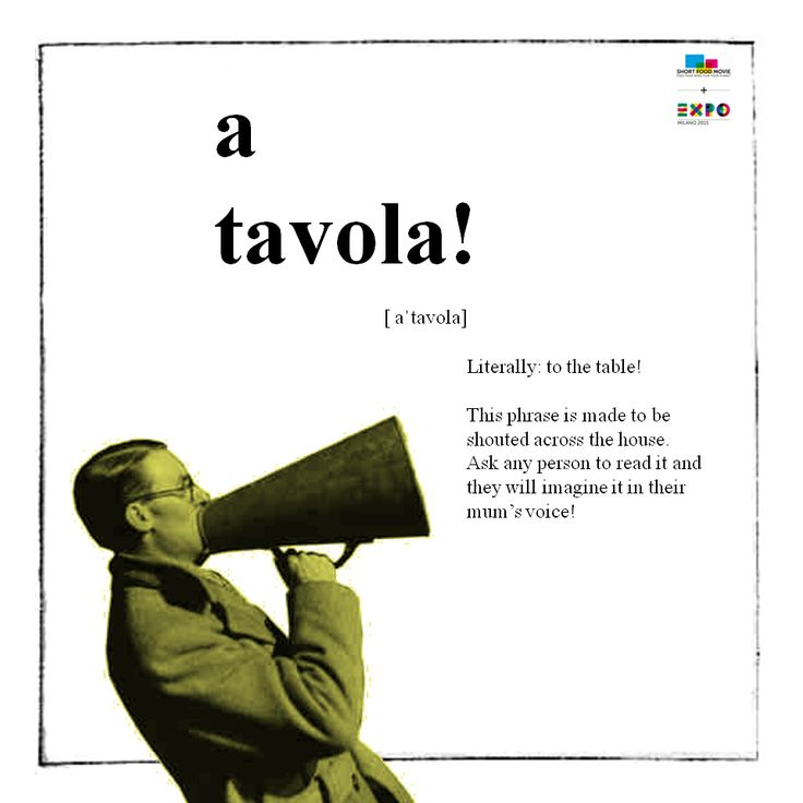 Learn #italian with #ShortFoodMovie! Lesson #2: a tavola!