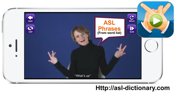 ASL Translator App. ASL Phrases.