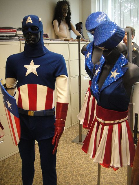 Captain America Prop Auction - Captain America USO costume and USO girl costume by Pop Culture Geek, via Flickr