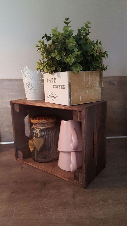 Décoration avec les caisses en bois Knagglig IKEA