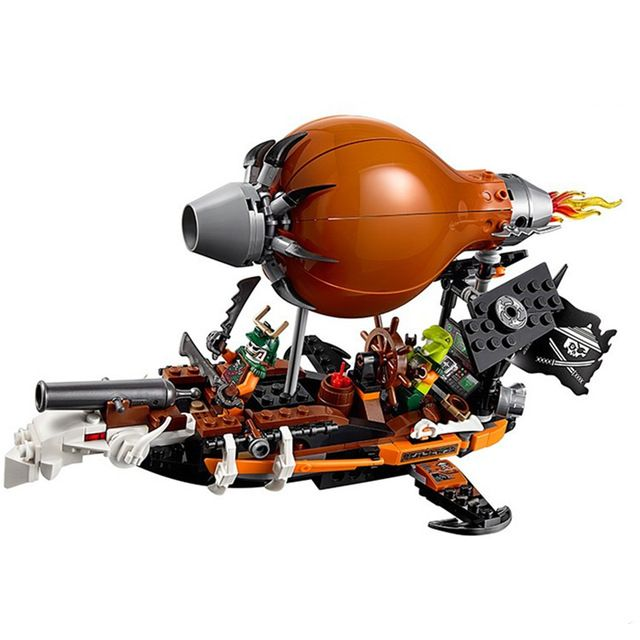 318Pcs Ninjagoed Minifigures Zeppelin Doubloon Clancee JAY Ninja Raid Zeppelin Weapon Building Blocks Compatible With Lego Ninja