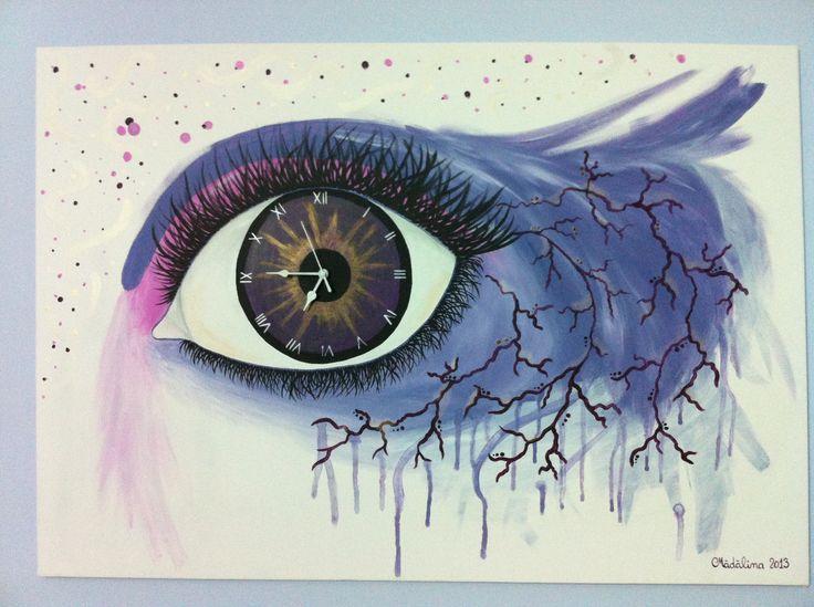 Clock in eye ❤