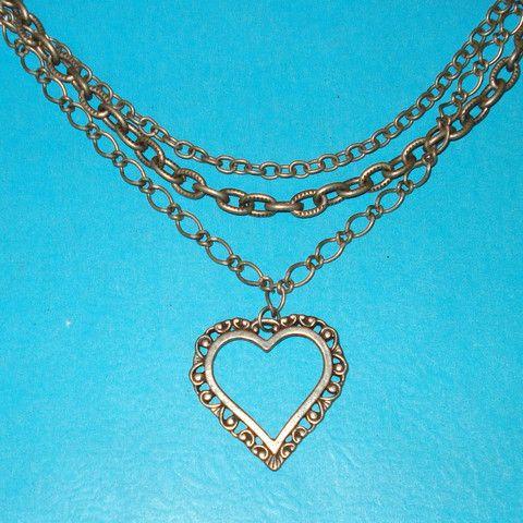 Multi-strand Heart Necklace - Mookie Designs Vintage