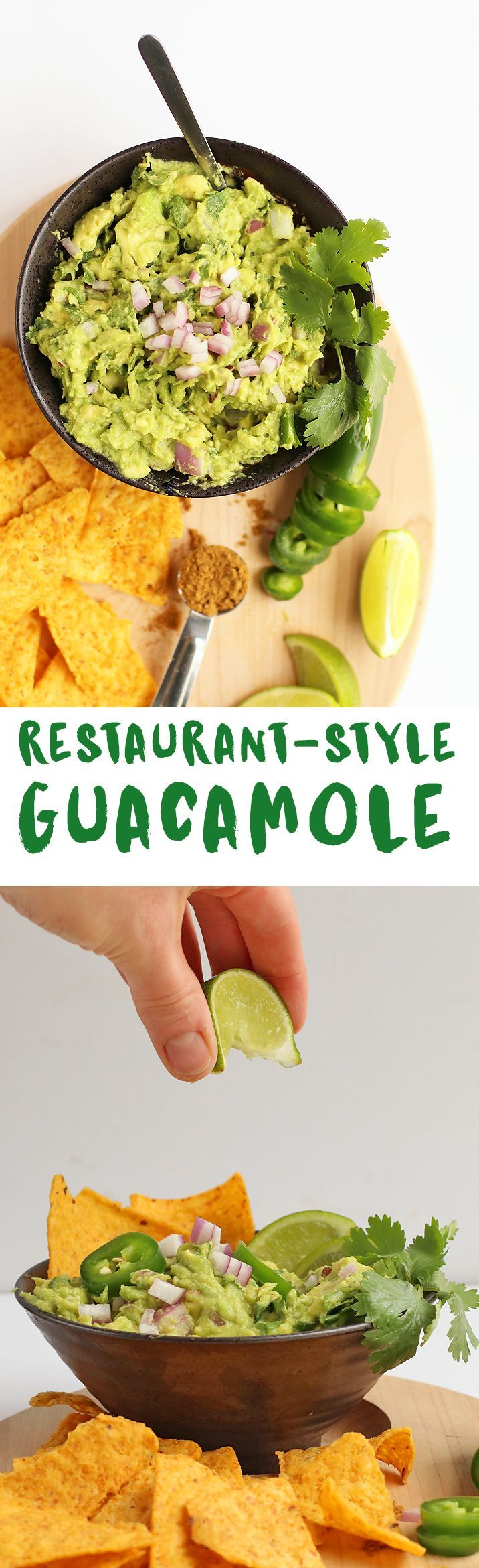 Get your avocado fix with this Easy Guacamole made with ripe avocados, fresh herbs and spices, and lots of flavor. Serve with chips.