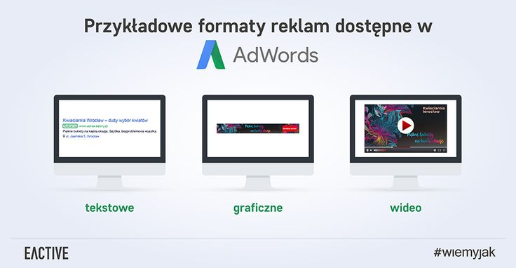 Poznaj przykładowe typy reklam AdWords.