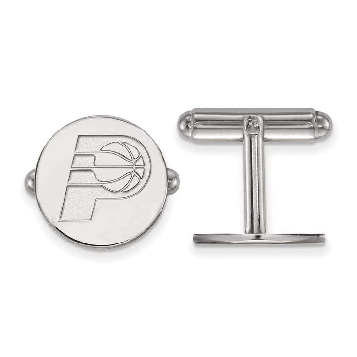 Sterling Silver NBA LogoArt Indiana Pacers Cuff Link