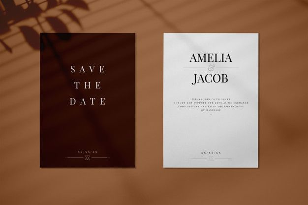 Download Save The Date Wedding Invitation Card Mockup For Free Wedding Invitation Cards Wedding Invitation Card Design Invitation Cards