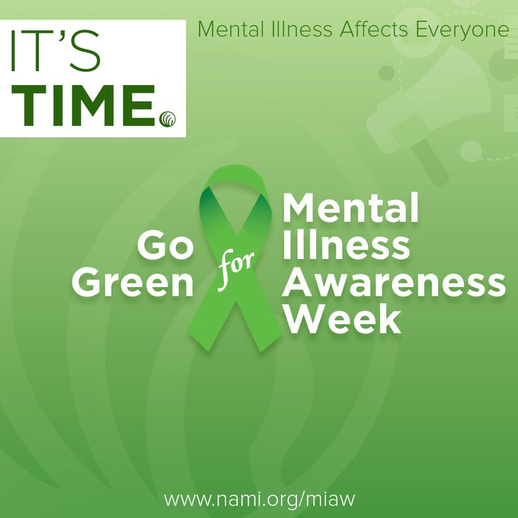 Mental Illness Awareness Week, when you fear you are losing your mind on a weekly basis.
