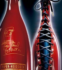 Jean Paul Gauttier dressed #Champagne bottle for Piper-Heidsieck