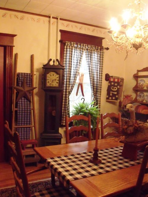 My Primified Colonial Dining Room, Colonial Dining Room Set. Love The Table/ Chairs