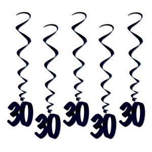 """BE57596-30 -Hanging Decoration Whirls """"30"""" Hanging Decoration Whirls '30' (Approx 90cm Drop) Black - Pack of 5 Please note: approx. 14 day delivery"""