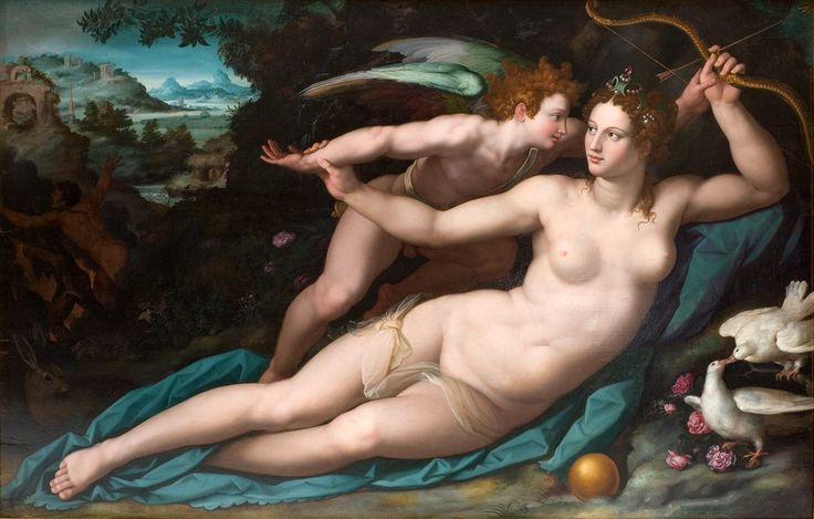ALESSANDRO ALLORI Venere e Cupido 1570