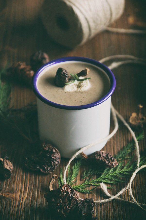 Zupa krem pieczarkowo-grzybowa z rozmarynem