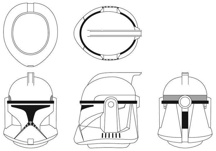clone trooper helmet phase 1 - Google Search