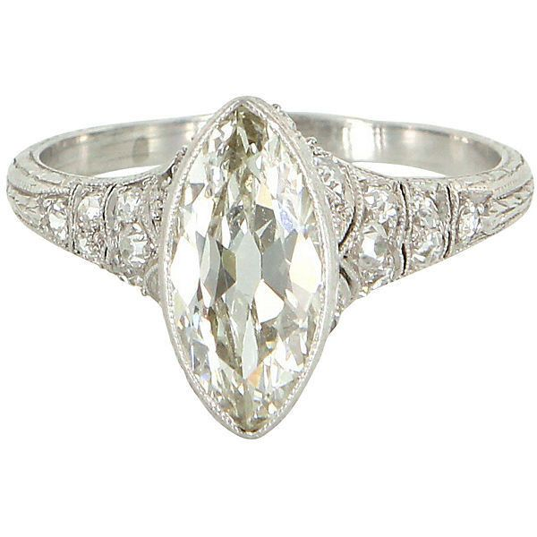 pre owned art deco platinum engagement ring 204060 mxn liked on polyvore - Preowned Wedding Rings