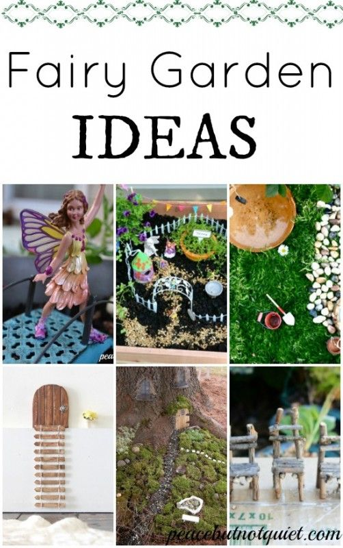 We spend HOURS playing with and decorating our fairy garden! Check out ideas for making your own (my fave is the twig furniture tutorial)