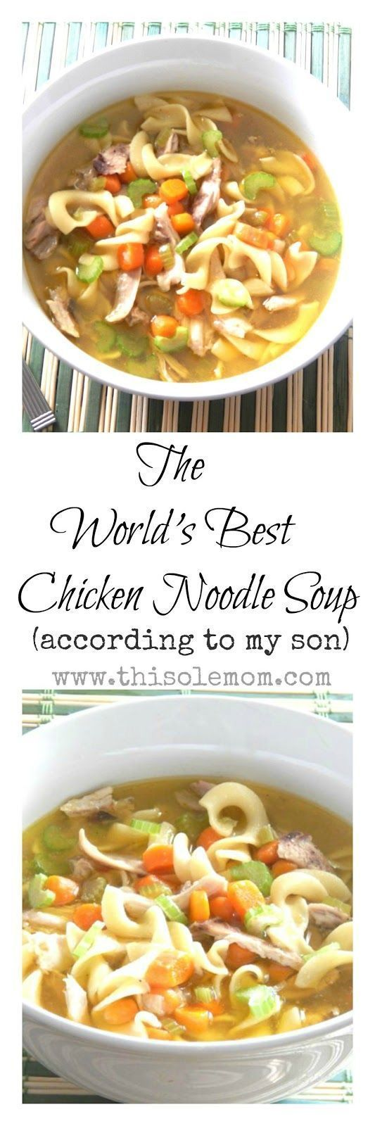 The World's Best Homemade Chicken Noodle Soup