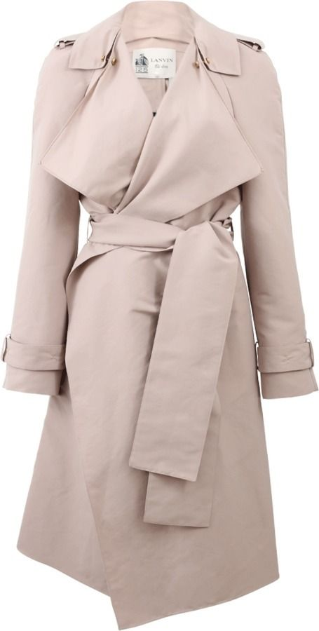 $4,280, Lanvin Silk Taffeta Trench. Sold by Marissa Collections. Click for more info: https://lookastic.com/women/shop_items/351556/redirect