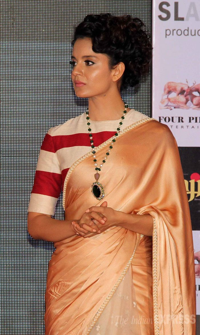 Kangana Ranaut at the music launch of 'Rajjo'. #Bollywood #Fashion #Style #Beauty Only Kangna could've worked this look!