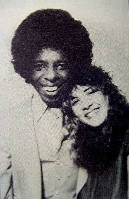 Stevie Nicks with Sly Stone in 1979. She wrote Dreams on his piano in his studio in Sausalito when Fleetwood Mac was working on Rumours.