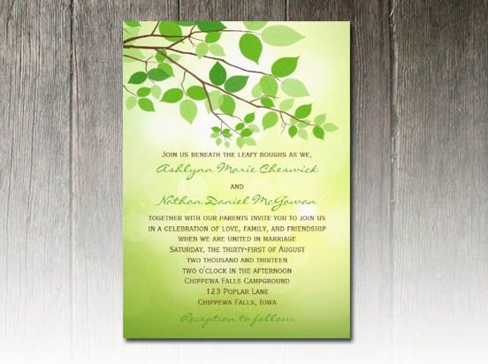 18 best Camping Weddings images on Pinterest Camping wedding - invitation template nature