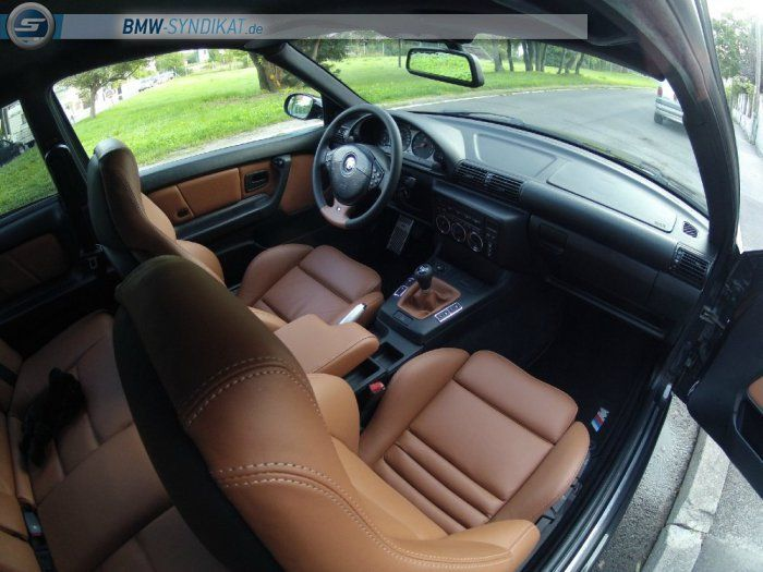 Bmw e36 compact interior with leather vader seats bmw for Interior bmw e36