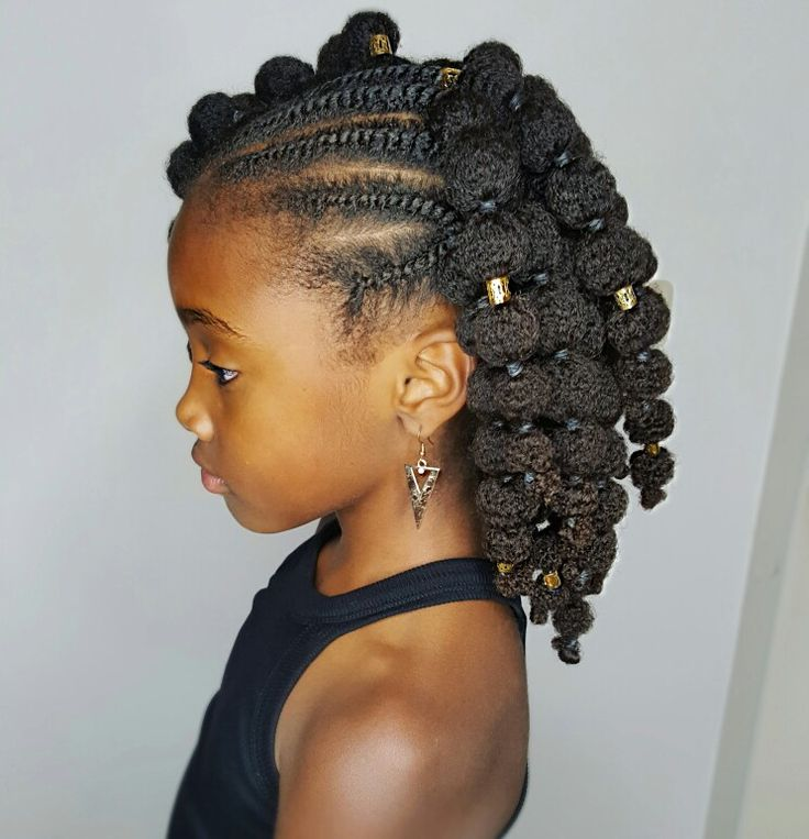 Black Girls Hairstyles cute hairstyles for black girls highlighted cew cut Mini Puffs Natural Hairstyles For Kids