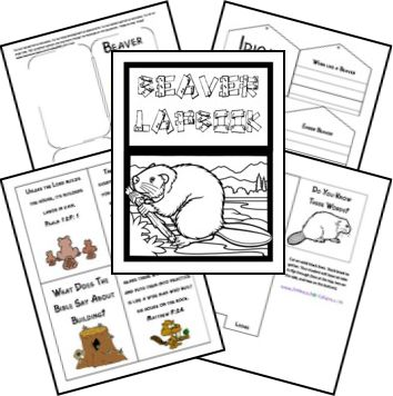 Beaver Unit Study and Lapbook; matches The Burgess Animal Book
