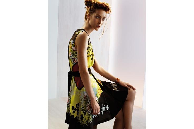 CUE: Oriental Floral Dress - $349.00