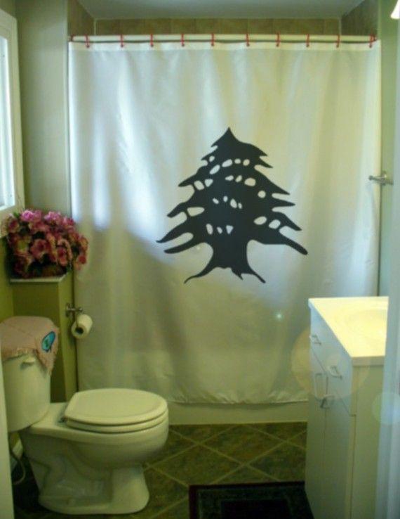 lebanon cedar shower curtain liban watan lubnan tree lebanese levant home bathroom decor kids bath curtains