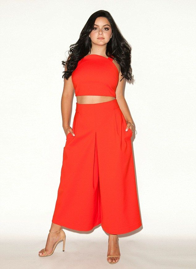 Confident: The sitcom star said she struggled to find age appropriate clothing for the red...