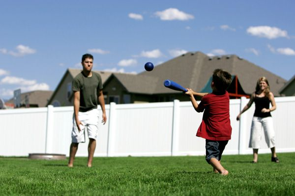 Family Playing Sports Together   the sport of american baseball began in 1845 it didn
