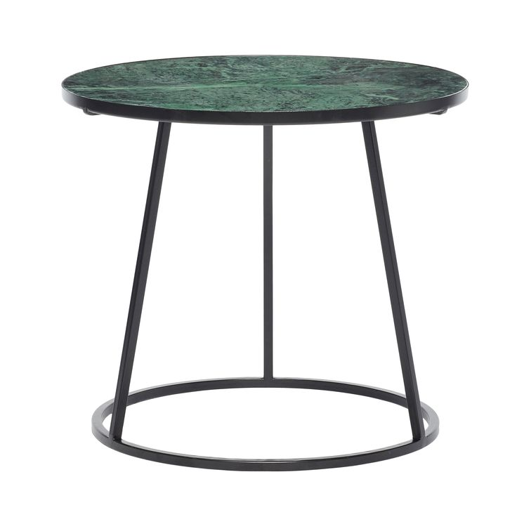 Black and green metal/marble table. Product number: 670207 - Designed by Hübsch.