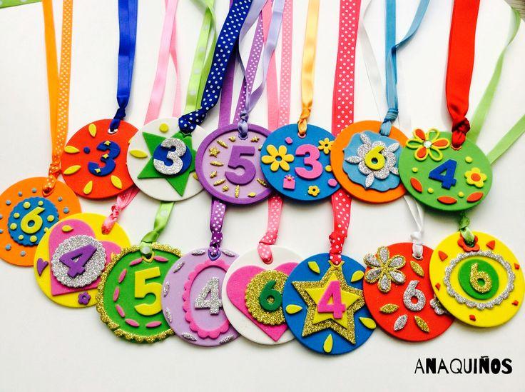 Medallas para cumpleaños. Birthday medals
