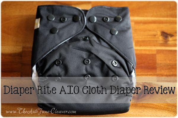 Diaper Rite AIO cloth diaper #review #clothdiapers