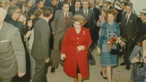 Prince Juan Carlos of Spain and princess Sofia inaugurate Puerto Banus in 1972