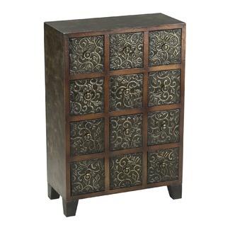 Cyan Designs Embossed Metal Cabinet