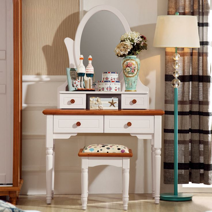 Find More Dressers Information about The mirror of the Mediterranean, the white makeup mirror, a small apartment, a small room, a table,High Quality mirror chocolate,China makeup organizer Suppliers, Cheap makeup compact mirror from Wooden box / crafts Store on Aliexpress.com