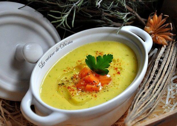 Velouté de panais, carottes et persil plat