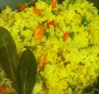 CUBAN YELLOW RICE RECIPE: Take a look at my recipe for Cuban Yellow Rice or Arroz Amarillo Cubano made with sautéed onion, bell pepper, garlic, cumin and saffron. Normally water is used but for additional flavor I use vegetable broth in my recipe.