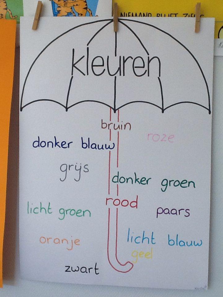 Kleuren paraplu
