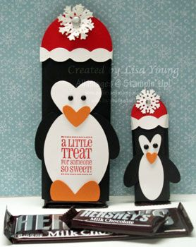 Penguin Candy Bar Cover by genesis - Cards and Paper Crafts at Splitcoaststampers