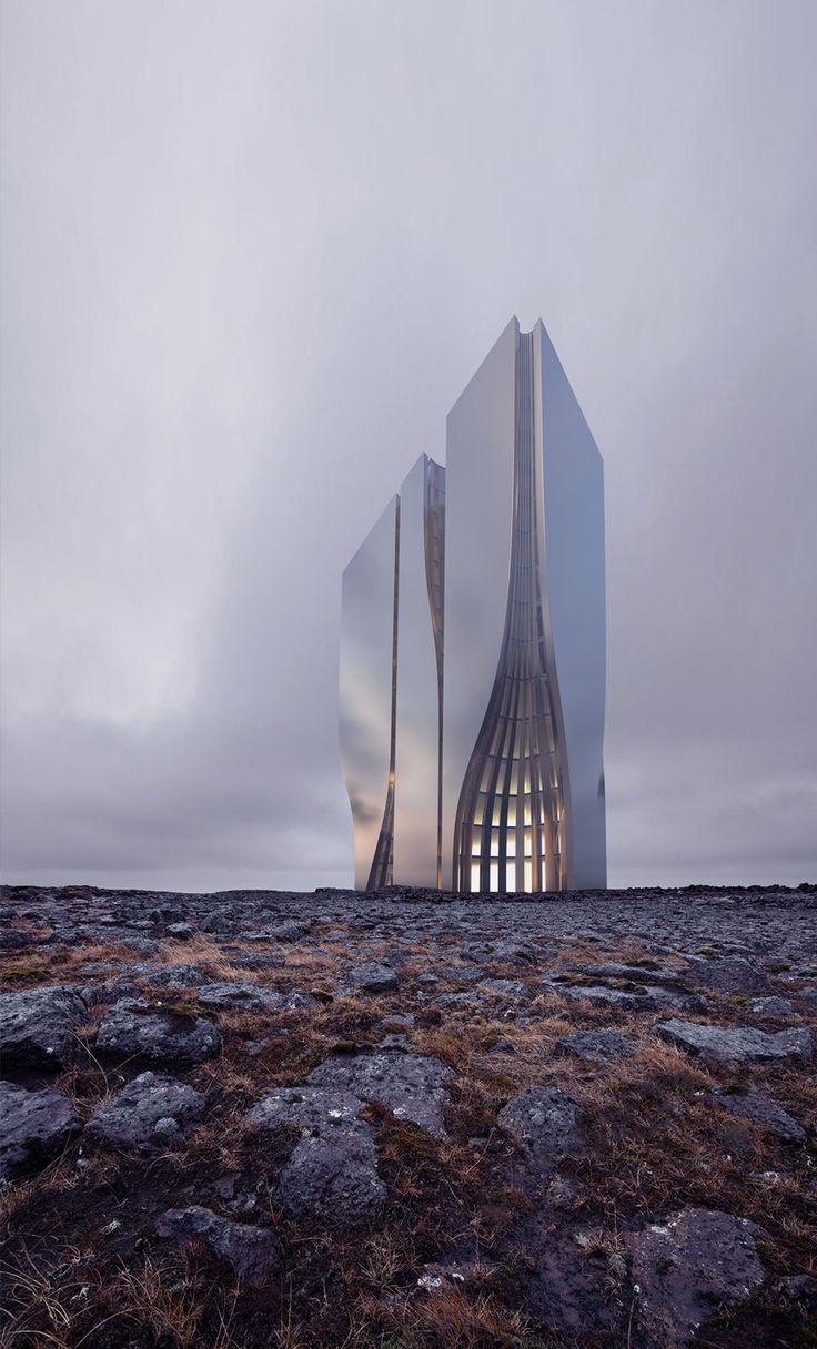 skyscraper concept by roman vlasov architecture pinterest. Black Bedroom Furniture Sets. Home Design Ideas