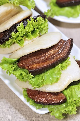 KONG BAK BAO aka KONG BAK HO HUP PAU (braised pork belly bun)  bao, bau, humbow, nunu, bausak, pow or pau  [China]