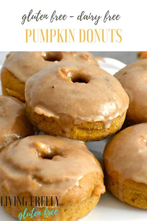 Pumpkin Gluten Free Baked Donuts could not be easier to make! These healthy donu…