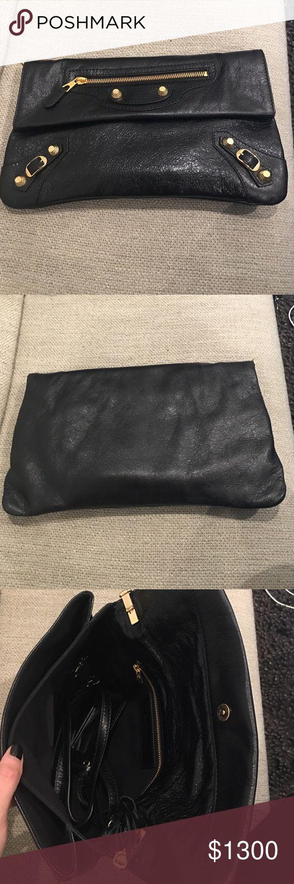Balenciaga clutch /with cross body strap Gold hardware leather Balenciaga Bags Clutches & Wristlets